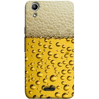 FUSON Designer Back Case Cover for Micromax Canvas Selfie 2 Q340 (Party Friendship Yaro Ki Mahfil Cold Chilled Beer Glass )