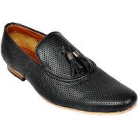 Allen Cooper Devis Black Men'S Leather Casual Shoes