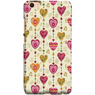 FUSON Designer Back Case Cover For Oppo F3 (Valentine Pink Metallic Cool Peace Sign Symbol Pillow)