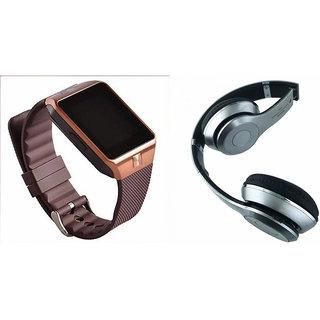Mirza DZ09 Smart Watch and S460 Bluetooth Headphone for MOTOROLA google nexus 6(DZ09 Smart Watch With 4G Sim Card, Memory Card| S460 Bluetooth Headphone)