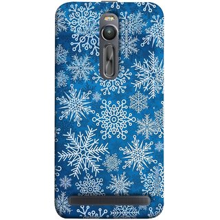 FUSON Designer Back Case Cover For Asus Zenfone 2 ZE551ML (Different Size Winter Snow Enjoying Pattern World)