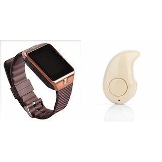 Mirza DZ09 Smart Watch and Kaju Bluetooth Headphone for SONY txt pro(DZ09 Smart Watch With 4G Sim Card, Memory Card| Kaju Bluetooth Headphone)