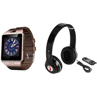 Mirza DZ09 Smart Watch and S460 Bluetooth Headphone for HTC ONE PRIME CAMERA EDITION(DZ09 Smart Watch With 4G Sim Card, Memory Card| S460 Bluetooth Headphone)
