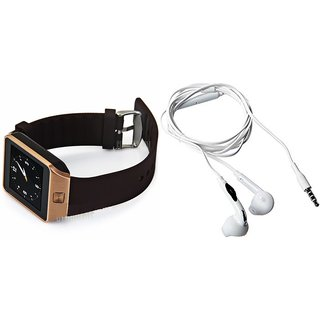 Mirza DZ09 Smart Watch and S6 Bluetooth Headsetfor XOLO A550S IPS(DZ09 Smart Watch With 4G Sim Card, Memory Card| S6 Bluetooth Headset)