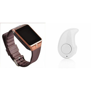 Mirza DZ09 Smart Watch and Kaju Bluetooth Headphone for LG g flex (DZ09 Smart Watch With 4G Sim Card, Memory Card| Kaju Bluetooth Headphone)