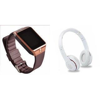 Mirza DZ09 Smart Watch and S460 Bluetooth Headphone for SAMSUNG G 9198(DZ09 Smart Watch With 4G Sim Card, Memory Card  S460 Bluetooth Headphone)