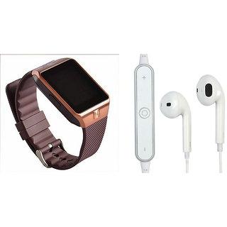 Mirza DZ09 Smart Watch and S6 Bluetooth Headsetfor ASUS ZENFONE C 7.0(DZ09 Smart Watch With 4G Sim Card, Memory Card  S6 Bluetooth Headset)