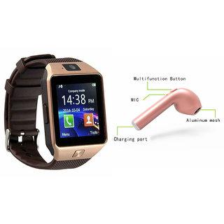 Mirza DZ09 Smart Watch and HBQ I7R Bluetooth Headphone for SONY xperia z1f(DZ09 Smart Watch With 4G Sim Card, Memory Card| HBQ I7R Bluetooth Headphone)