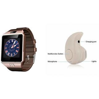 Mirza DZ09 Smart Watch and Kaju Bluetooth Headphone for HTC DESIRE SV(DZ09 Smart Watch With 4G Sim Card, Memory Card| Kaju Bluetooth Headphone)
