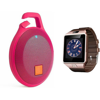 Mirza DZ09 Smart Watch and Clip Plus Bluetooth Speaker for LENOVO a6000(DZ09 Smart Watch With 4G Sim Card, Memory Card| Clip Plus Bluetooth Speaker)