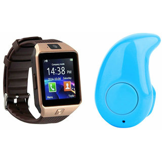Mirza DZ09 Smart Watch and Kaju Bluetooth Headphone for HTC DESIRE 210 DUAL SIM(DZ09 Smart Watch With 4G Sim Card, Memory Card| Kaju Bluetooth Headphone)