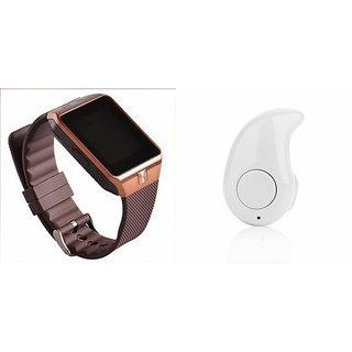 Mirza DZ09 Smart Watch and Kaju Bluetooth Headphone for HTC DESIRE 610(DZ09 Smart Watch With 4G Sim Card, Memory Card| Kaju Bluetooth Headphone)