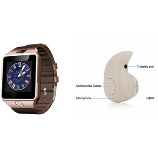 Mirza DZ09 Smart Watch and Kaju Bluetooth Headphone for HTC ONE M9(DZ09 Smart Watch With 4G Sim Card, Memory Card  Kaju Bluetooth Headphone)