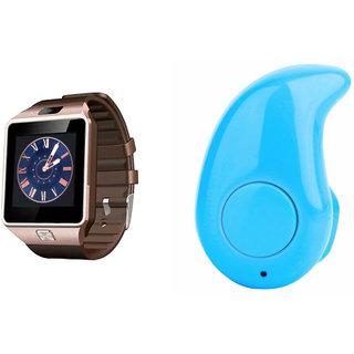 Mirza DZ09 Smart Watch and Kaju Bluetooth Headphone for MICROMAX CANVAS 5(DZ09 Smart Watch With 4G Sim Card, Memory Card| Kaju Bluetooth Headphone)