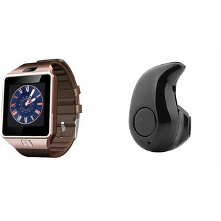Mirza DZ09 Smart Watch and Kaju Bluetooth Headphone for SAMSUNG GALAXY CORE PRIME 4G(DZ09 Smart Watch With 4G Sim Card, Memory Card| Kaju Bluetooth Headphone)