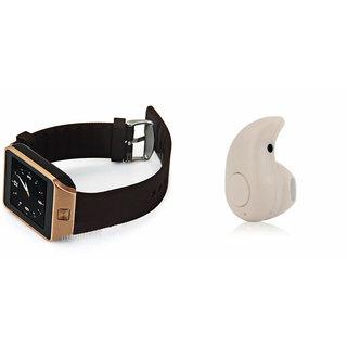 Mirza DZ09 Smart Watch and Kaju Bluetooth Headphone for HTC DESIRE 816(DZ09 Smart Watch With 4G Sim Card, Memory Card| Kaju Bluetooth Headphone)