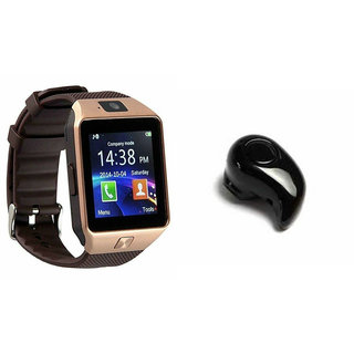 Mirza DZ09 Smart Watch and Kaju Bluetooth Headphone for MICROMAX CANVAS PLAY 4G(DZ09 Smart Watch With 4G Sim Card, Memory Card  Kaju Bluetooth Headphone)