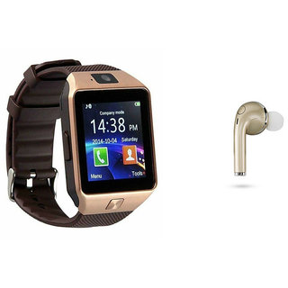 Mirza DZ09 Smart Watch and HBQ I7R Bluetooth Headphone for LG OPTIMUS 4X HD(DZ09 Smart Watch With 4G Sim Card, Memory Card| HBQ I7R Bluetooth Headphone)