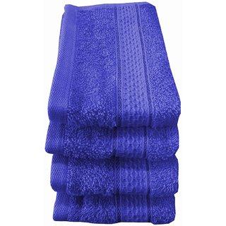 Welhouse India 500 GSM Cotton 4 Piece Face Towel Set (30X30) RFT-001