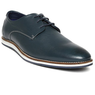 Hush Puppies MenS Blue Formal Lace-Up Shoes