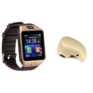 Mirza DZ09 Smart Watch and Kaju Bluetooth Headphone for REDMI NOTE 3 (DZ09 Smart Watch With 4G Sim Card, Memory Card  Kaju Bluetooth Headphone)