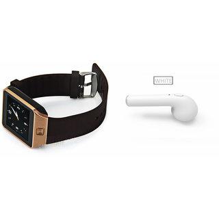 Mirza DZ09 Smart Watch and HBQ I7R Bluetooth Headphone for MOTOROLA milestone xt  800(DZ09 Smart Watch With 4G Sim Card, Memory Card| HBQ I7R Bluetooth Headphone)