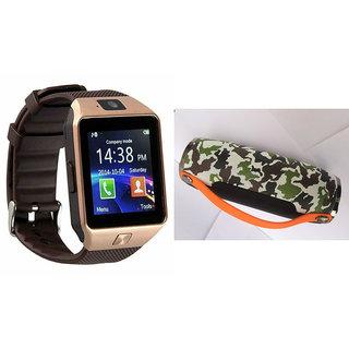 Mirza DZ09 Smart Watch and Mini Xtreme K5 + Bluetooth Speaker for SONY xperia E4 dual(DZ09 Smart Watch With 4G Sim Card, Memory Card| Mini Xtreme K5 + Bluetooth Speaker)