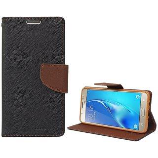 Mobimon Mercury Wallet Dairy Flip Cover for Samsung Galaxy J2 Premium Quality Black  Brown