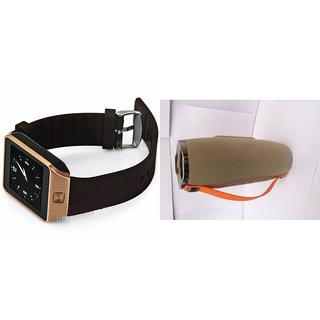 Mirza DZ09 Smart Watch and Mini Xtreme K5 + Bluetooth Speaker for LENOVO vibe k4 note(DZ09 Smart Watch With 4G Sim Card, Memory Card| Mini Xtreme K5 + Bluetooth Speaker)