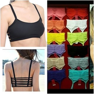 6 STRAP PADDED BRALETTE(REMOVABLE PADS)FREE SIZE FITS UPTO 36 BUST SIZE