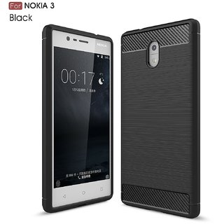 Nokia 3 Rugged Armor Shock Proof Soft Back Cover