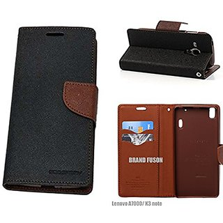 SK  Mercury Wallet Dairy Flip Cover for Samsung Galaxy J7 Prime Premium Quality Brown