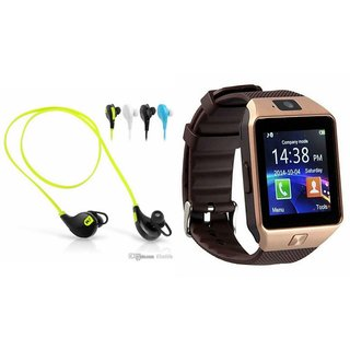 Mirza DZ09 Smartwatch and Jogger Bluetooth Headphone for LG aka(DZ09 Smart Watch With 4G Sim Card, Memory Card| Jogger Bluetooth Headphone)
