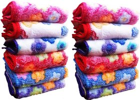 angle homes set of 10 face towel (t1)