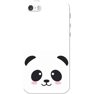 finest selection 865cb 8da7e iPhone 5 Case, iPhone 5S Case, Black Cute Panda White Slim Fit Hard Case  Cover/Back Cover for iPhone 5/5s
