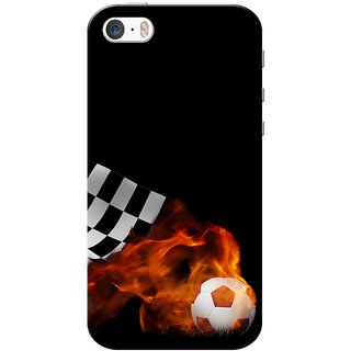sneakers for cheap 2b6e3 0439c iPhone 5 Case, iPhone 5S Case, Football Blast Black Slim Fit Hard Case  Cover/Back Cover for iPhone 5/5s