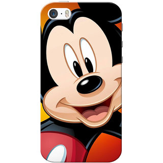 release date 37bc8 8ae28 iPhone 5 Case, iPhone 5S Case, Mickey Mouse Face Slim Fit Hard Case  Cover/Back Cover for iPhone 5/5s