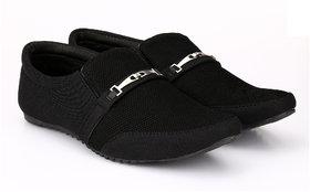 Groofer Men's Black Slip-on Casual party wear