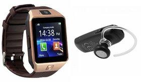 Mirza DZ09 Smartwatch and HM1100 Bluetooth Headphone for Samsung J7 Prime(DZ09 Smart Watch With 4G Sim Card, Memory Card| HM1100 Bluetooth Headphone)