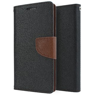 Mobimon Stylish Luxury Mercury Magnetic Lock Diary Wallet Style Flip case cover for OPPO A37 - Brown