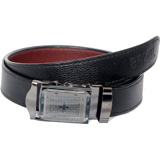 Black leatherlite Formal Auto Lock Buckle Belts F