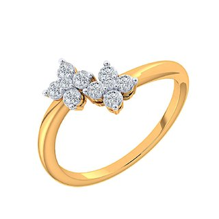 Shuddhi 14K Yellow Gold Diamond Ring For Women