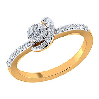 Asmi 14K Yellow Gold Diamond Ring For Women