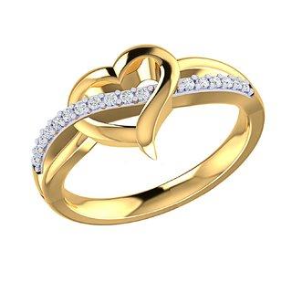 Asmi 14K Yellow Gold Diamond Ring For Women
