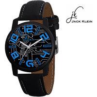 Jack Klein Trendy Round Dial Black Strap Analogue Wrist