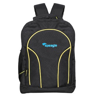 Speagle 15.6 inch Laptop Backpack  Black Yellow