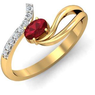 Glitterati By Asmi 14K Yellow Gold Diamond Ring For Women