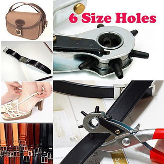 Revolving The Spring Leather Hole Punch Punching Plier Leatherworking Belt Strap