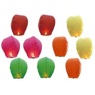 INT Sky candle (5 PCS ) /Sky lantern in paper lantern (Multicolor)