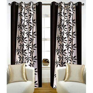 angel homes polyester single curtain for door (s y )